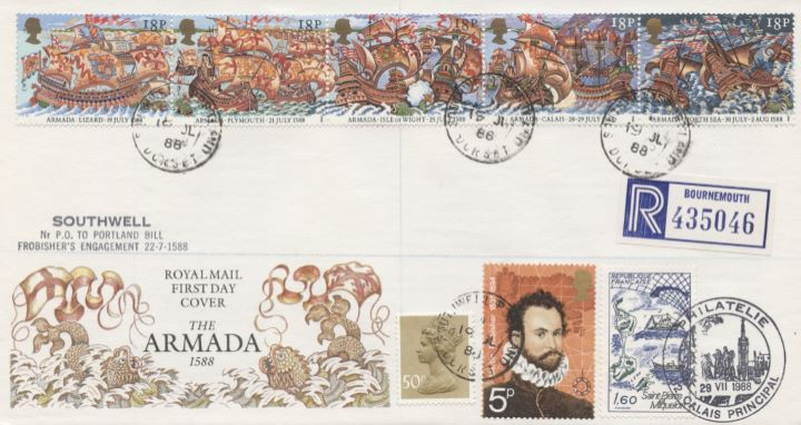 Spanish Armada, Covers with additional stamps