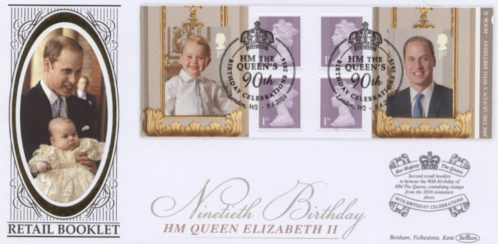 Self Adhesive: H M The Queen's 90th Birthday 2, Prince William & George