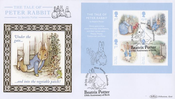 Beatrix Potter: Miniature Sheet, Peter Rabbit