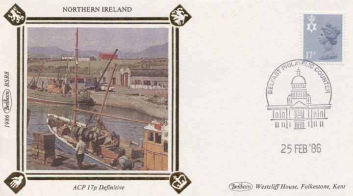 Northern Ireland 13p, 17p, 22p, 31p, Boat Yard