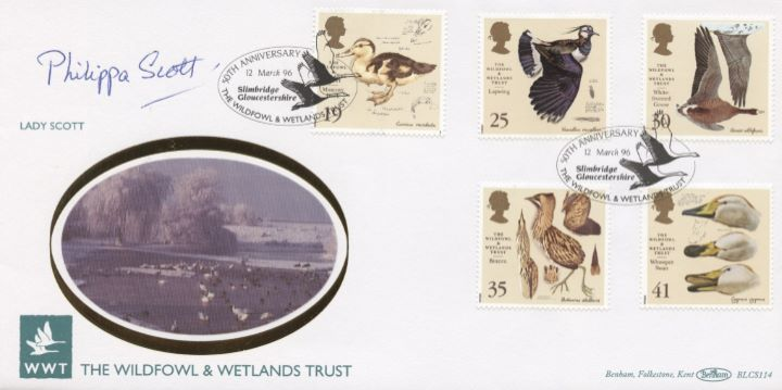 Wildfowl & Wetlands Trust, Lady Scott signed