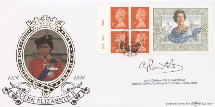 Window: Queen's 70th Birthday, Signed Cover