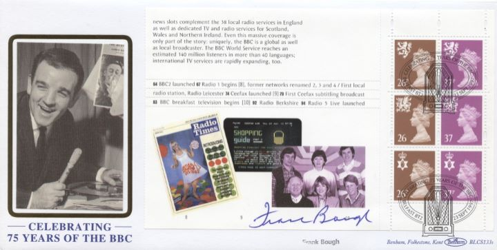PSB: 75th Anniversary of BBC, Frank Bough signed