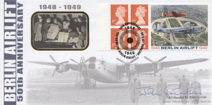 Window: Berlin Airlift, Air Marshal Sir John Curtiss signed