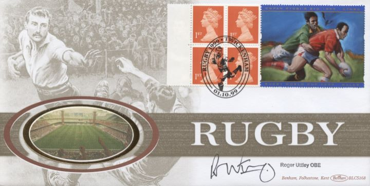 Window: Rugby World Cup, Roger Uttley signed