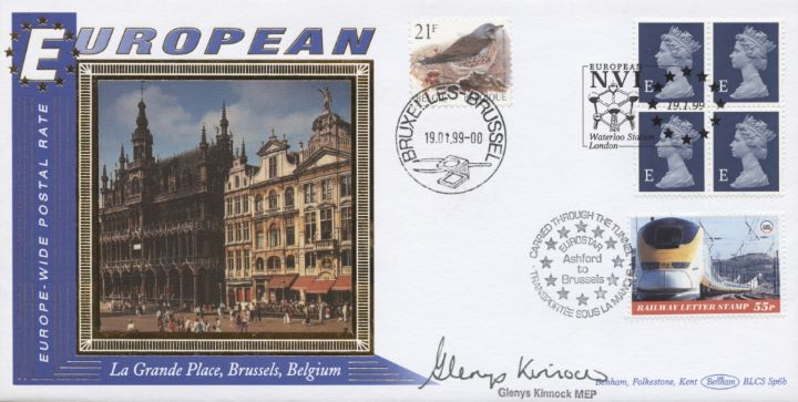 Window: Europe Definitive: 4 x E, Glenys Kinnock signed