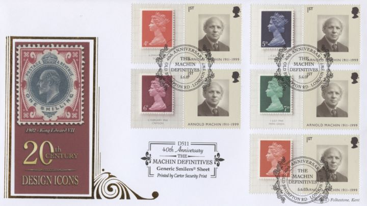 Machin 40 Years: Generic Sheet, 1902 King Edward VII
