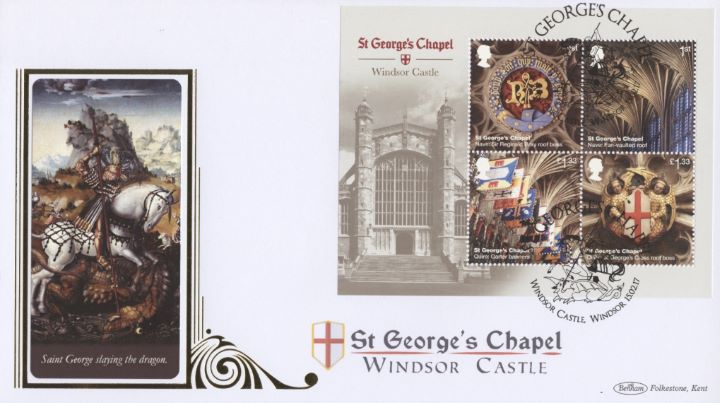Windsor Castle: Miniature Sheet, St George