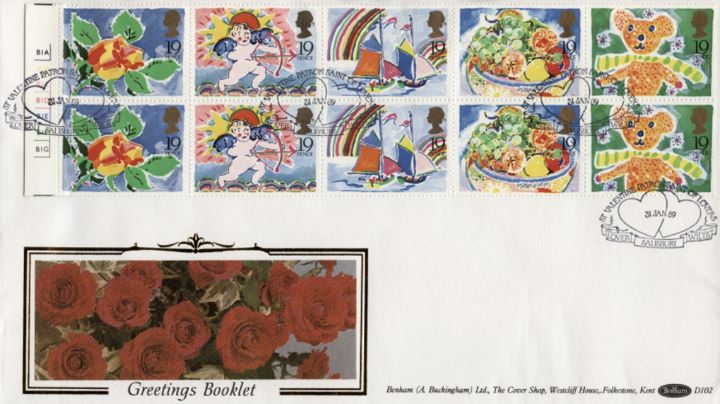 Greetings Stamps, Roses