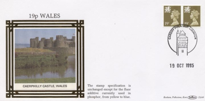 Wales 19p, 25p, 30p, 41p, Caerphilly Castle