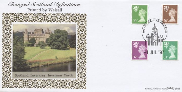 Scotland 20p, 26p, 37p, 63p, Inveraray Castle