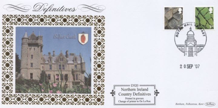 Northern Ireland (white borders) 2nd, 1st, E, 68p, Belfast Castle