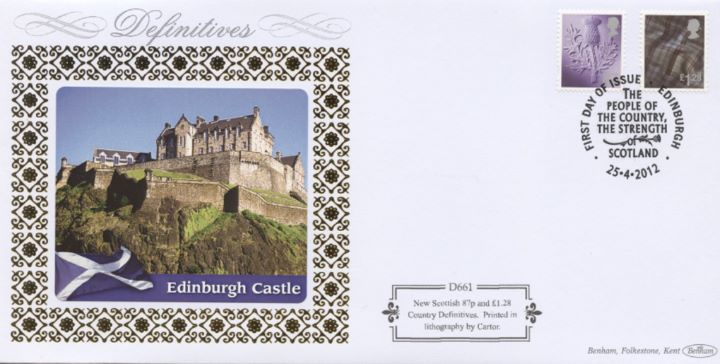 Scotland 87p, £1.28, Edinburgh Castle