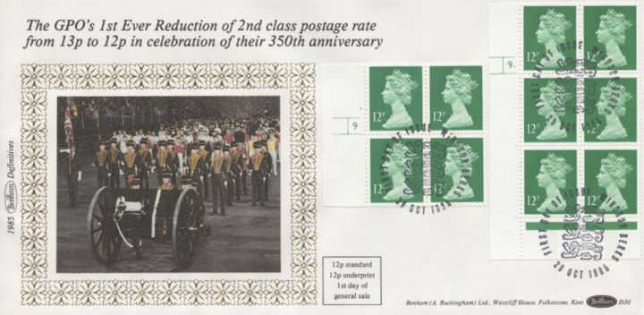 Machins: 7p & 12p, Reduction of 2nd Class Postage