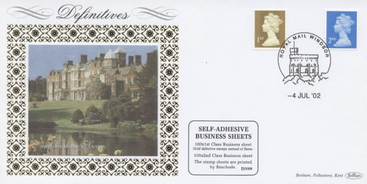 Machins (EP): Gold Stamps: 1st Self Adhesive, Sandringham House