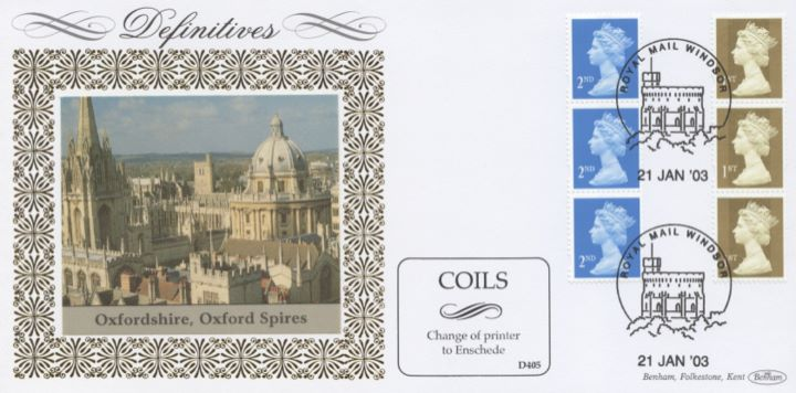 Machins (EP): Gold Stamps: 1st Self Adhesive, Oxford Spires
