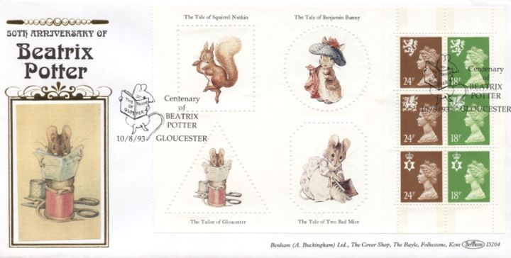 PSB: Beatrix Potter - Pane 2, The Tailor of Gloucester