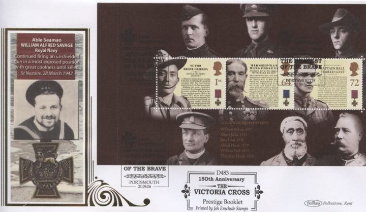 PSB: Victoria Cross - Pane 1, William Alfred Savage