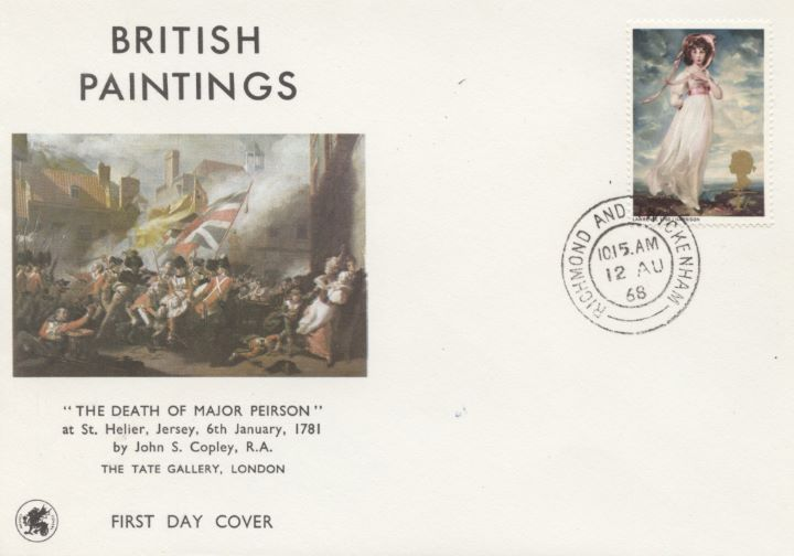 British Paintings 1968, Single Stamp Covers