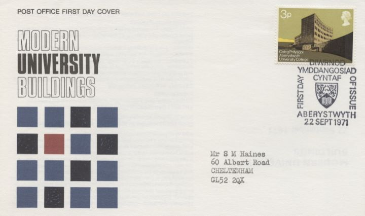 Universities, Single Stamp Covers