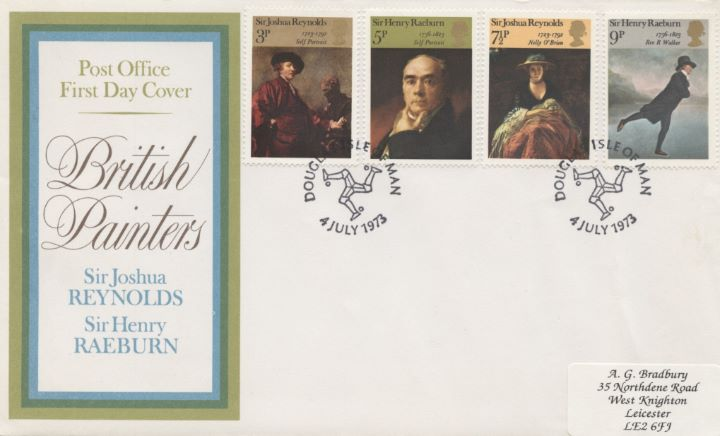 British Paintings 1973, Rare Postmark!