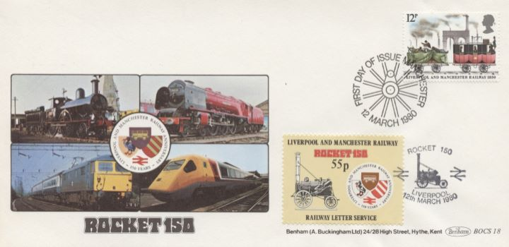 Liverpool & Manchester Rly, Single Stamp Covers