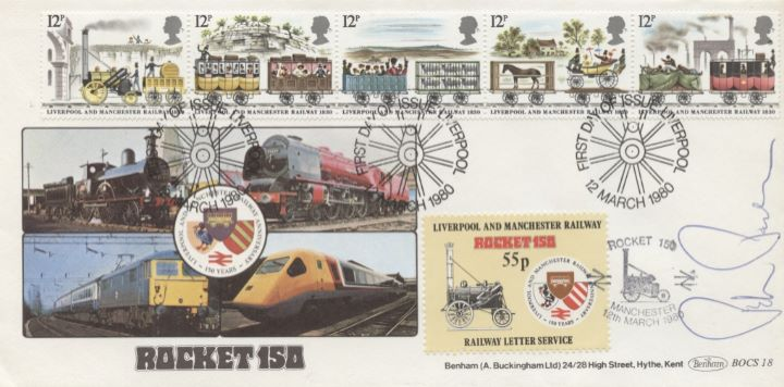 Liverpool & Manchester Rly, Signed Cover