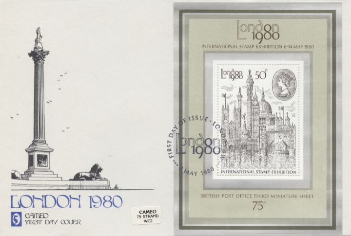 London 1980: Miniature Sheet, Nelsons Column