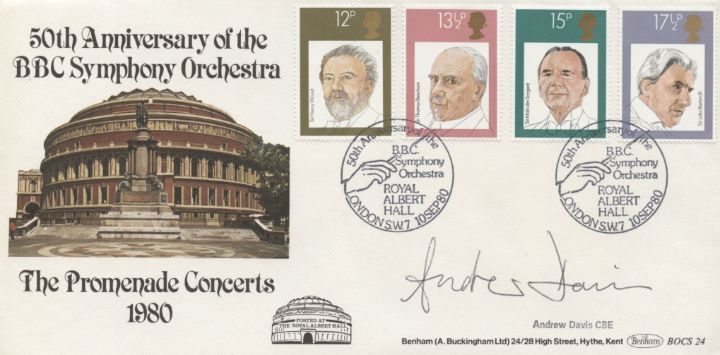 British Conductors, Signed Cover