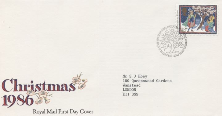 Christmas 1986: 12p, Special Handstamp