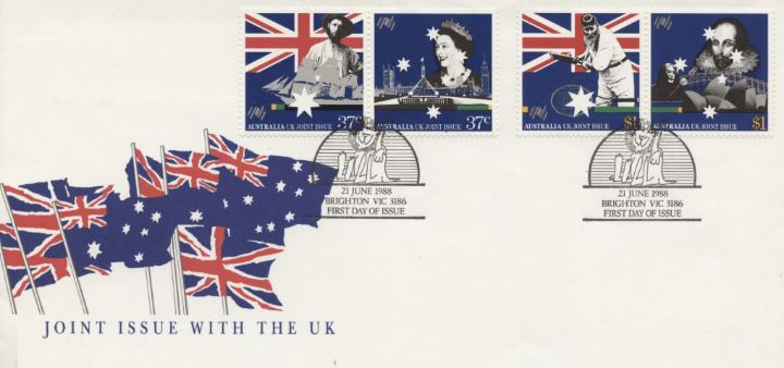 Australian Bicentenary, Joint Issue with the UK