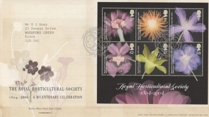 Royal Horticultural Society: Miniature Sheet, Special Handstamps
