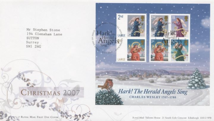 Christmas 2007: Miniature Sheet, Special Handstamp