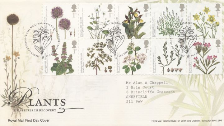 Plants, Special Handstamp