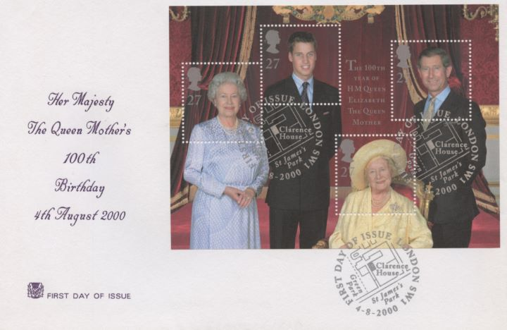 Queen Mother: Miniature Sheet, The Royal Family