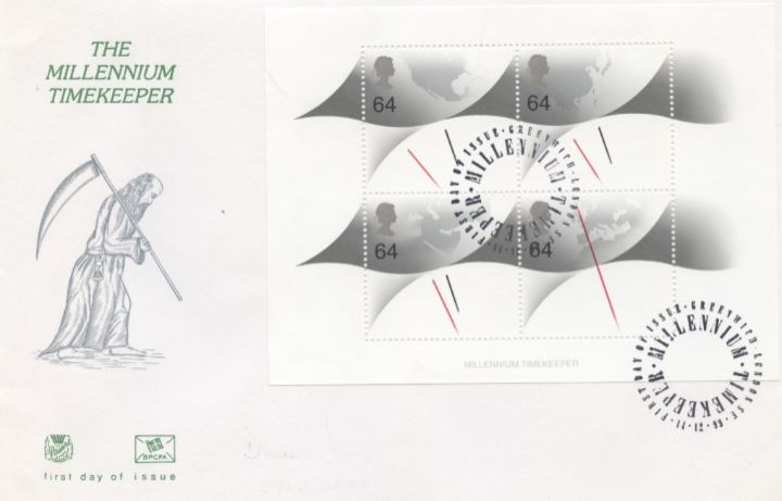 Millennium Timekeeper: Miniature Sheet, Old Father Time