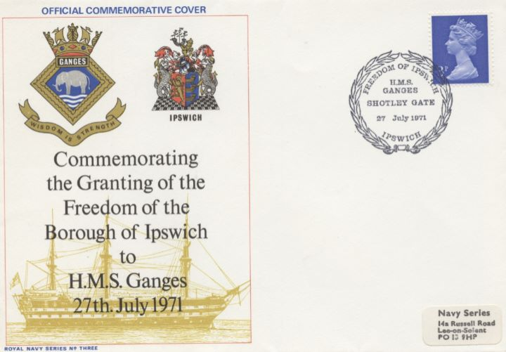 Granting of the Freedom of the Borough, Ipswich to HMS Ganges