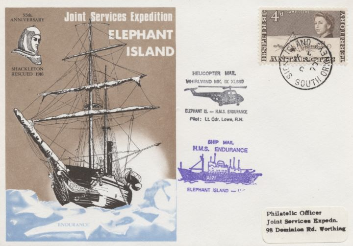 Joint Services Expedition, Elephant Island