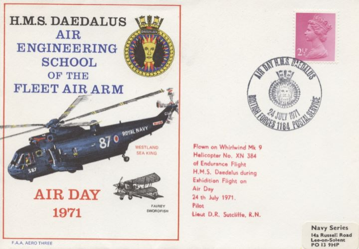 HMS Daedalus, Westland Sea King