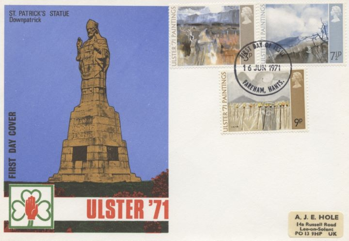 Ulster '71 Paintings, St Patricks Statue