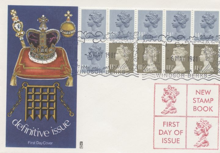 Counter: New Design: £1.30 Postal Hist 1 (Penny Black), Coronation Regalia