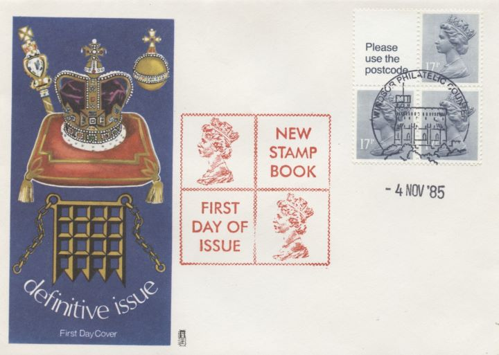 Vending: New Design: 50p Pillar Box (1p Discount), Coronation Regalia