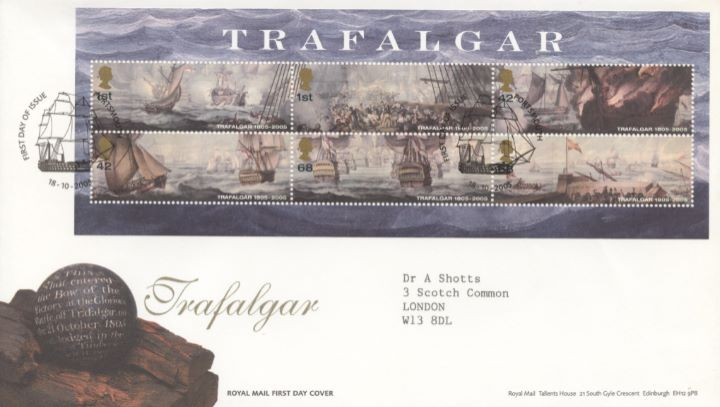 Trafalgar: Miniature Sheet, Shot