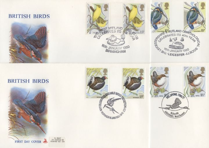 British Birds 1980, Set of 4 Covers