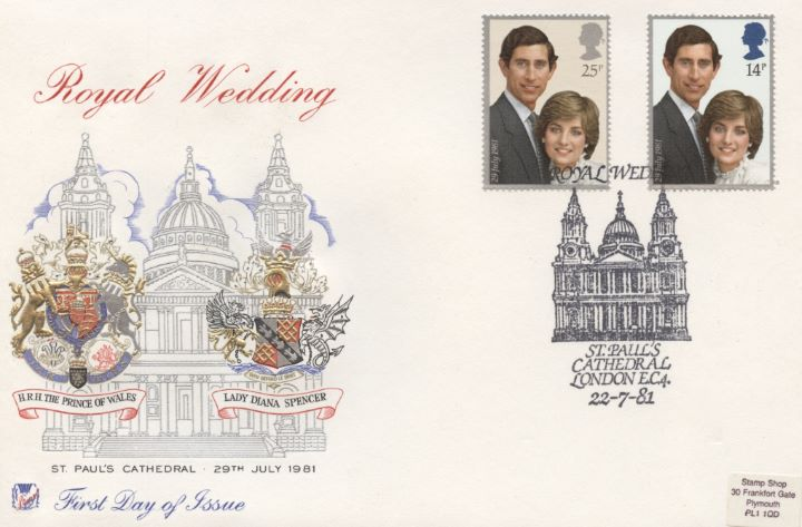 Royal Wedding 1981, St Pauls Postmark