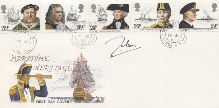 Maritime Heritage, Signed cover