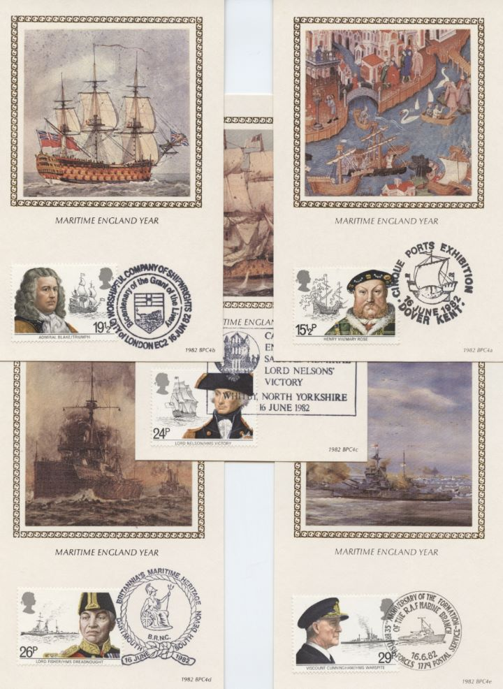 Maritime Heritage, Set of 5 Postcards
