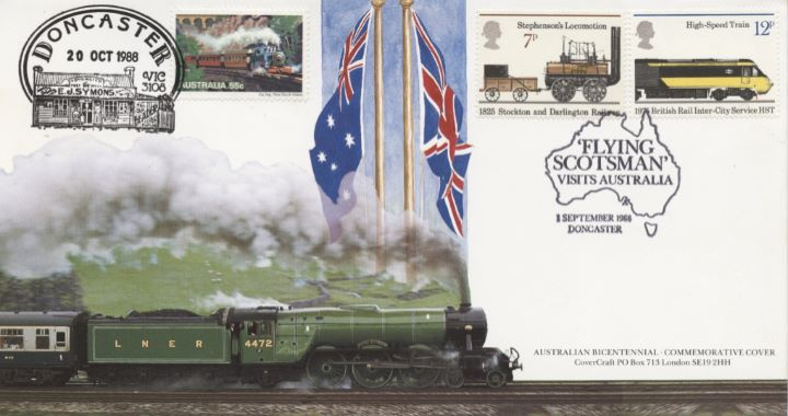 Double Dated Cover, Austalian Bicentenary