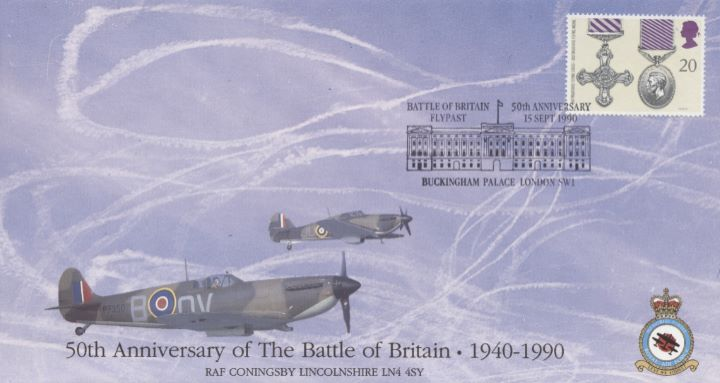 Battle of Britain Flypast, Spitfire and Hurricane