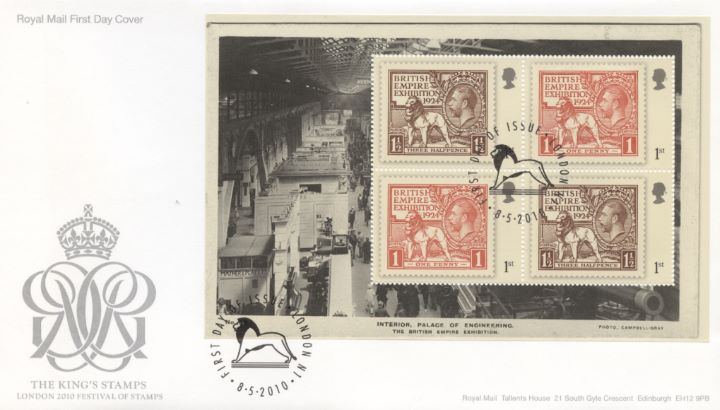 PSB: Festival of Stamps KGV - Pane 3, The Kings Stamps